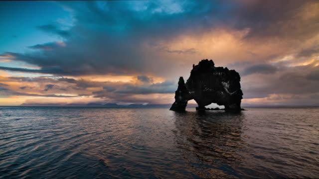 Hvitserkur in Iceland - Slow Motion video