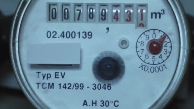 Hydro electric meter. Hydro electric meter. Measuring the flow of water consumed. paper currency stock videos & royalty-free footage
