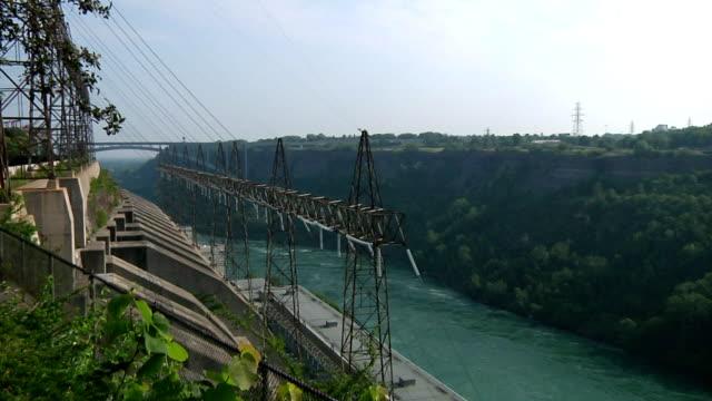 vídeos de stock, filmes e b-roll de hydro usina elétrica - rio niagara