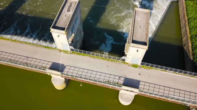 Hydroelectric power station from above
