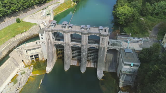 AERIAL Hydroelectric Power Station HE Plave