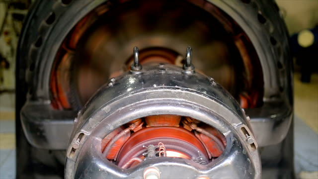 hydroelectric turbine.rotor and stator system - magnete video stock e b–roll