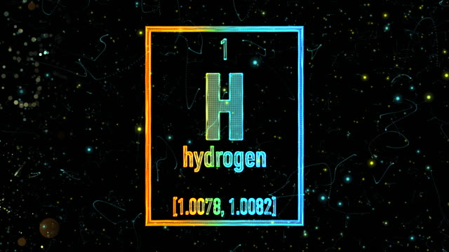 hydrogen symbol as in the periodic table - atomo video stock e b–roll