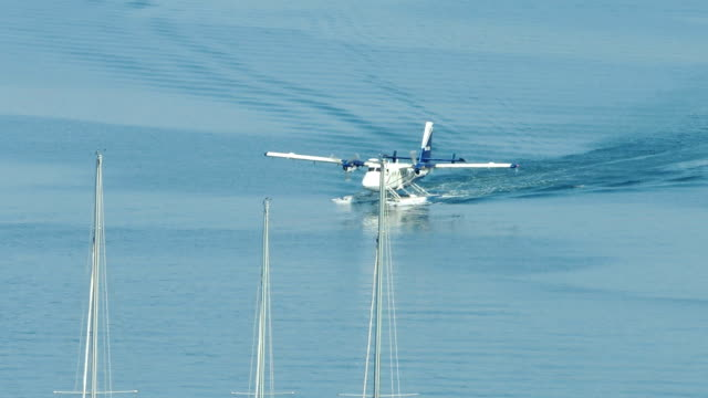 Hydroplane Taxiing in Pula Bay video