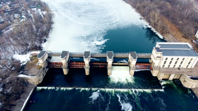 Hydropower Plant. Aerial shot. Hydropower Plant. Aerial shot 4K power stock videos & royalty-free footage