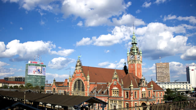 Hyper lapse Gdansk railway station video