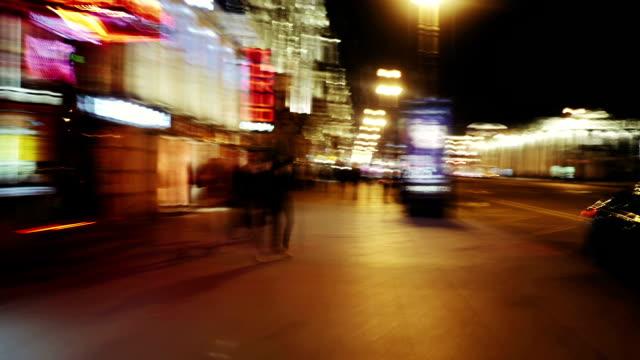 Hyper lapse. Night Street. video