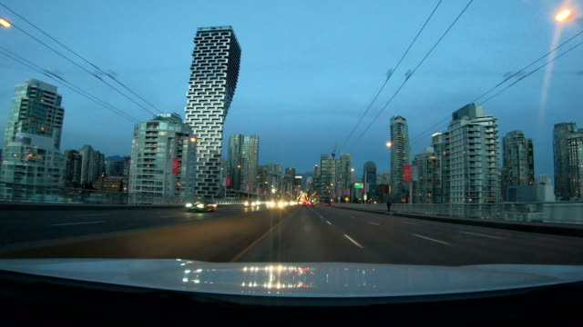 Hyper lapse of driving through downtown Vancouver Hyper lapse of driving through downtown Vancouver, BC, Canada vancouver canada stock videos & royalty-free footage