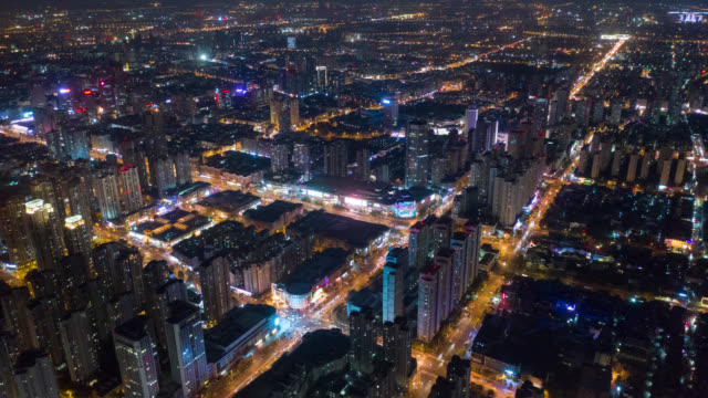 hyperlapse aerial view cityscape - paesi del golfo video stock e b–roll