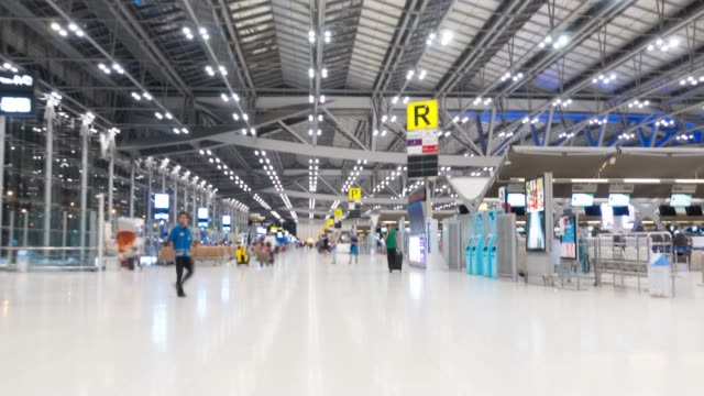 4k hyperlapse: airport thailand - passports and visas stock videos and b-roll footage