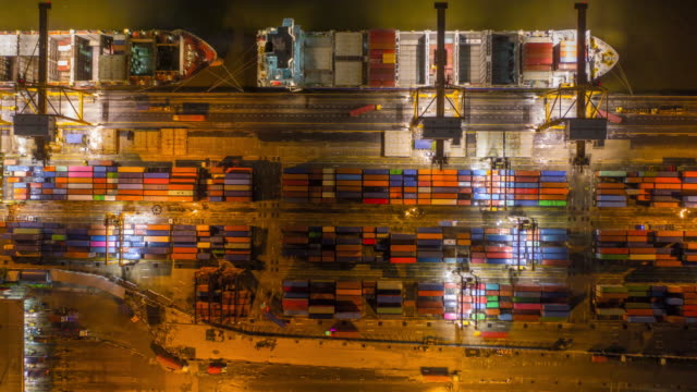 Hyperlapse Crane loading containers import/export