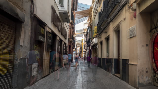 hyperlapse cuna street in sevilla Spain video
