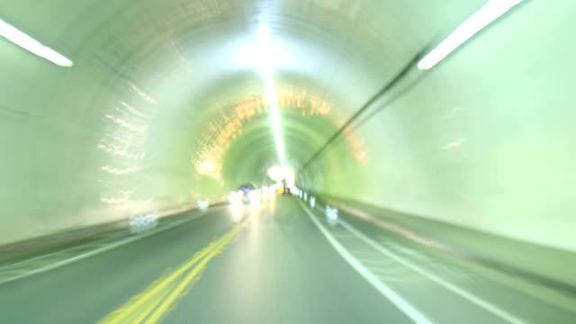 4K - Hyperlapse POV driving through Los Angeles tunnel video