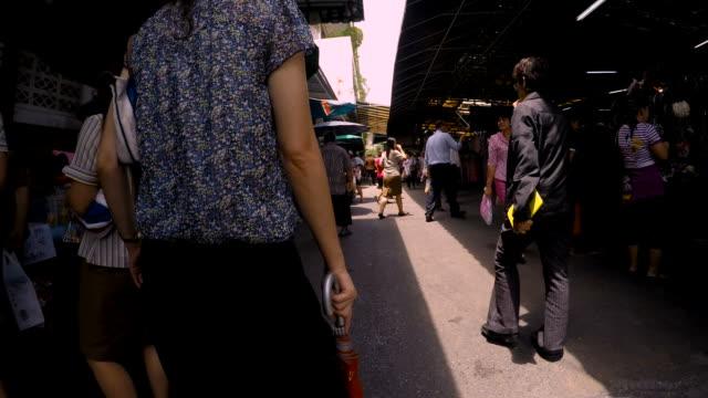 HD hyper-lapse : Enjoy walking in the Thailand market. video