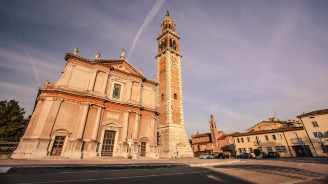Hyperlapse in the view of the Church of Santa Sofia