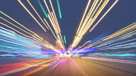 istock Hyperlapse motion at the night highway 1290682353