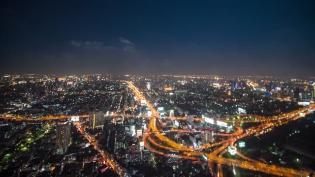 Hyperlapse of Bangkok city 360 view video