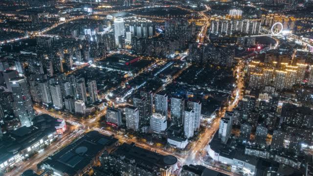 Hyperlapse of city at night video