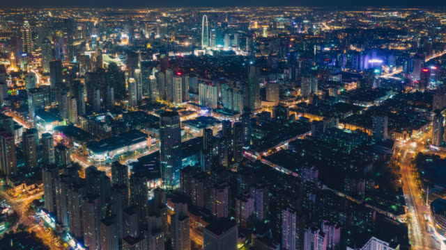 Hyperlapse of city night view