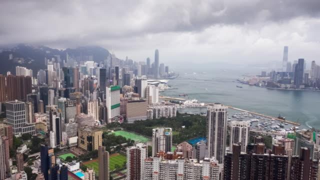 hyperlapse av hong kong stadsbilden i dag tid - high dynamic range imaging bildbanksvideor och videomaterial från bakom kulisserna