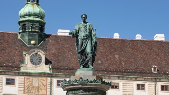 Hyperlapse of Statue of Franz Joseph I of Austria, In der Burg, Hofburg, Vienna, Austria