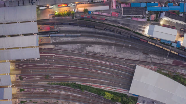 Hyperlapse of train aerial view