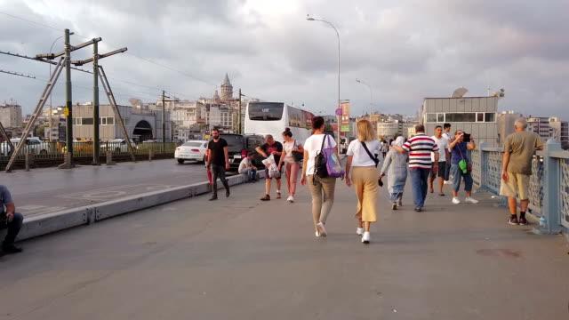 Hyperlapse on the Galata Bridge in Istanbul video