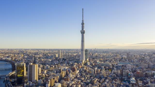 Hyperlapse View Sunrise of Tokyo City Skyline,Japan video
