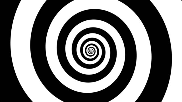 hypnotic black and white zooming spiral - seamless looping - трюк стоковые видео и кадры b-roll