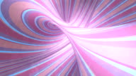 istock Hypnotic colored stripes background. Psychedelic optical illusion. Surreal loop animation dynamic backdrop. 3d rendering. 4K, UHD 1274060844