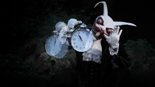 Hypnotic Halloween Rabbit  fairy stock videos & royalty-free footage