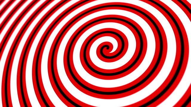 Hypnotic Retro Circus Spiral Motion Background Hypnotic red, black and white retro styled circus spiral motion background animation. illusion stock videos & royalty-free footage