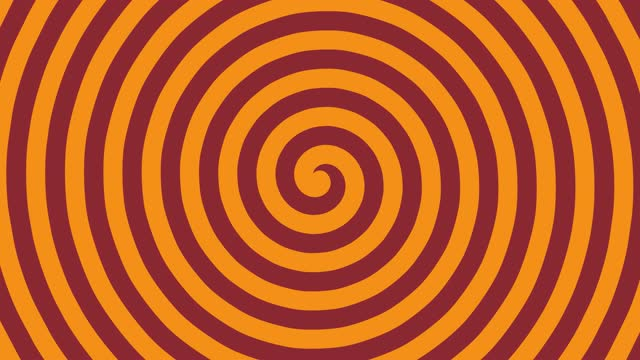 Hypnotic Spiral, 4K illusion background, Abstract colorful turning spiral motion background,