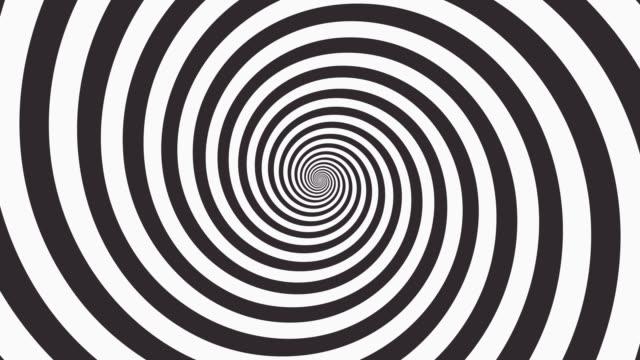 sfondo spirale ipnotico 4k - spirale ricciolo video stock e b–roll