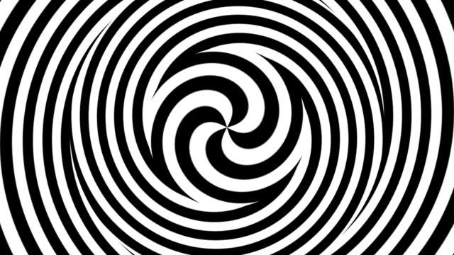 Hypnotic spiral Hypnotic spiral - Black-White wound stock videos & royalty-free footage