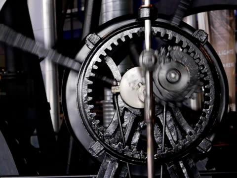 treno ingranaggi hypocycloidal - rivoluzione industriale video stock e b–roll