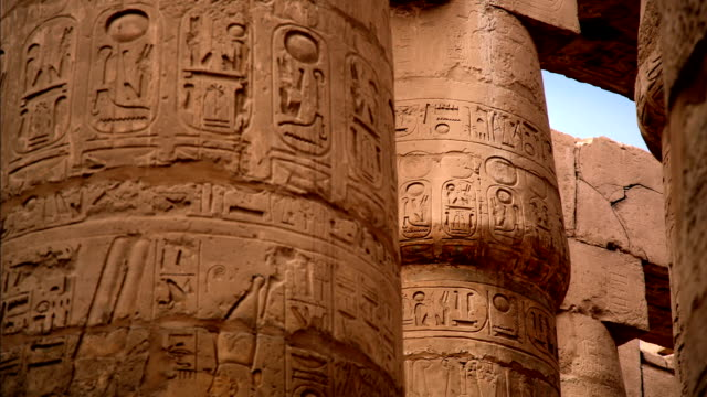 Hypostyle Hall from Karnak Temple, Luxor Egypt video