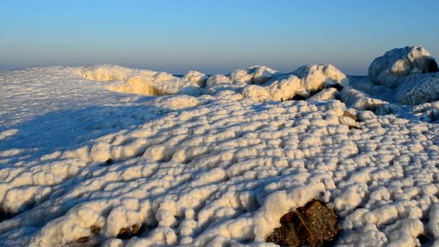 Ice blocks, sea video