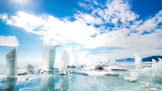 氷ブロック、タイムラプス ビデオ
