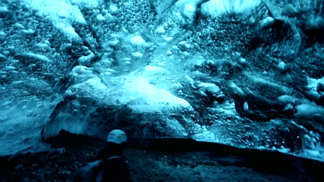 HD VDO : ice caves in Iceland video