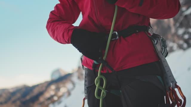 Ice climbing rope