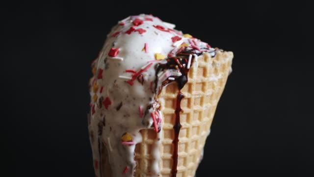 Ice cream cone melting video