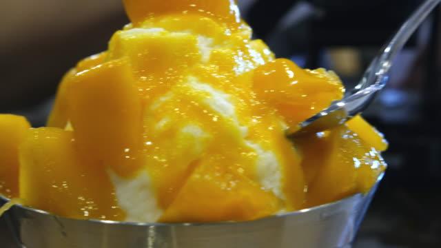 Ice cream Mango Ice cream Mango mango stock videos & royalty-free footage