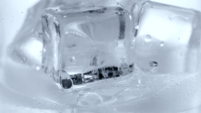 Ice cubes and soda water. video