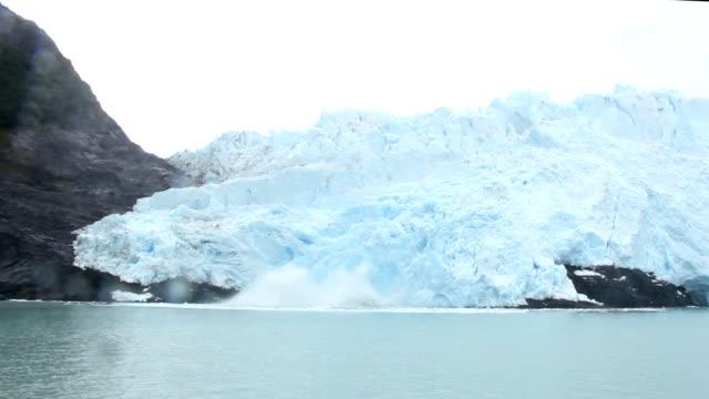 Ice Falling off a Glacier video