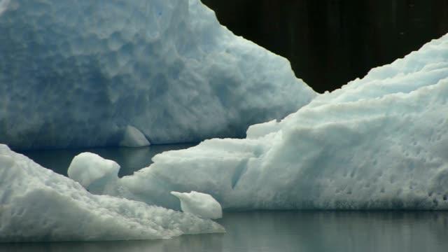 ice flow close up in alaska - alaska stato usa video stock e b–roll