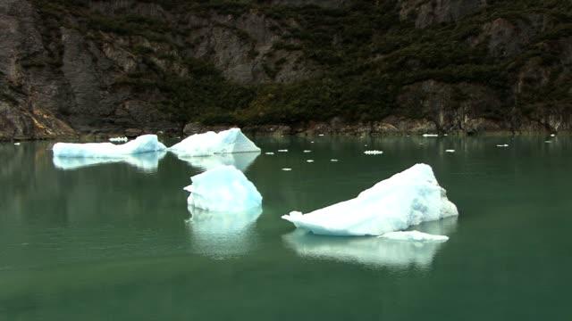 ice flowing in alaska - alaska stato usa video stock e b–roll