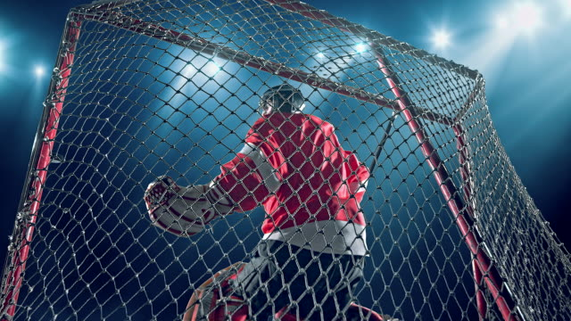 torwart-hockey-spieler - hockey stock-videos und b-roll-filmmaterial