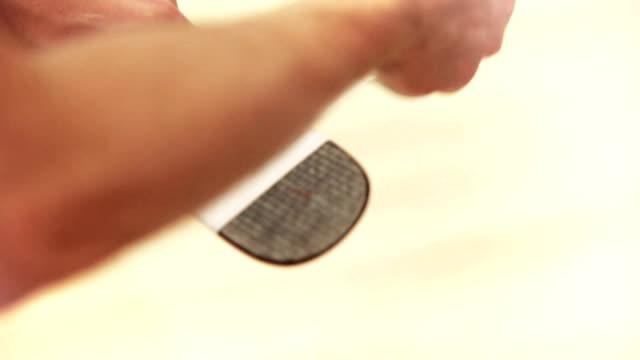 Ice Hockey player Tape A ice-Hockey Stick Blade video