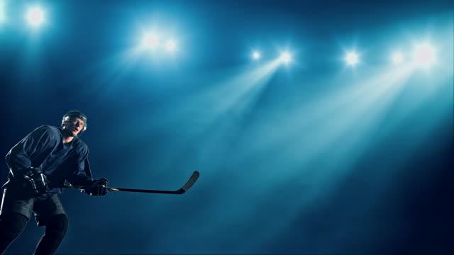 vidéos et rushes de joueur de hockey sur glace - hockey sur glace